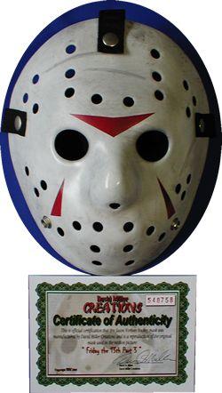 ジェイソン 13日の金曜日3 プロップレプリカ ホッケーマスク Davidmiller製
